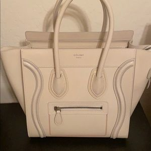 Celine multicolor stitch Luggage Tote